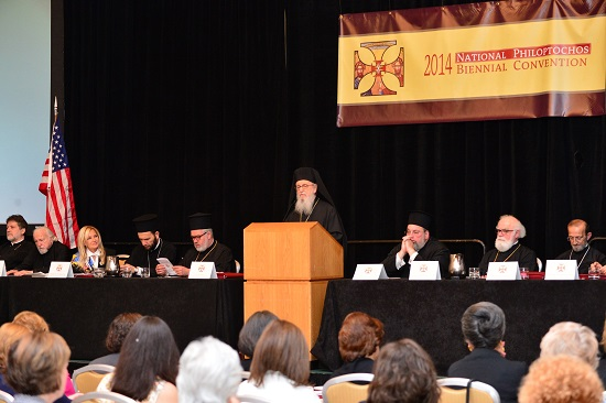 CLERGY-LAITY CONFERENCE, PHILADELPHIA 2014. OFFICIAL OPENING OF THE NATIONAL PHILOPTOCHOS FORUM  GANP/ ???????? ??????? ©GANP/DIMITRIOS PANAGOS