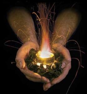fire in hands